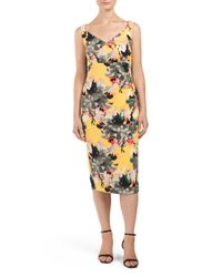 Tj Maxx - Yellow Floral Bouquet Printed Sheath Dress - Lyst