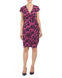 Tj Maxx - Pink Cap Sleeve Printed Matte Dress - Lyst
