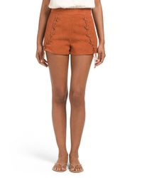 Tj Maxx - Brown Side Lace Up Short - Lyst