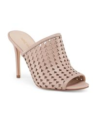 Tj Maxx - Natural Leather Perforated Slip Heel - Lyst