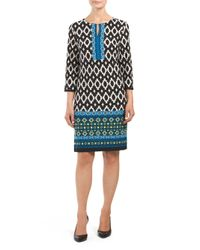 Tj Maxx - Black Printed Keyhole Matte Jersey Dress - Lyst