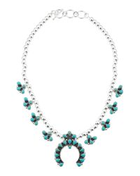 Tj Maxx | Blue Handcrafted In Mexico Sterling Silver Squash Blossom Necklace | Lyst
