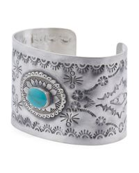 Tj Maxx - Metallic Handcrafted In Mexico Sterling Silver Turquoise Cuff - Lyst