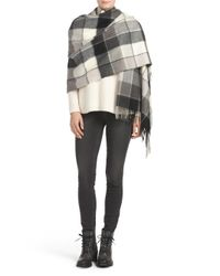 Tj Maxx - Black Plaid Blanket Wrap - Lyst