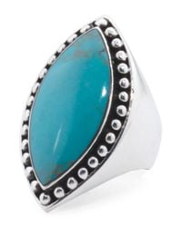 Tj Maxx - Blue Handcrafted In Mexico Sterling Silver Turquoise Beaded Ring - Lyst