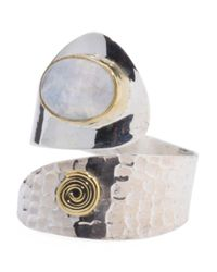 Tj Maxx | Metallic Made In India Sterling Silver And Brass Gemstone Bypass Ring | Lyst