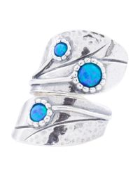Tj Maxx - Blue Made In Israel Sterling Silver Opal Bypass Ring - Lyst