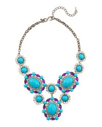Tj Maxx | Blue Made In Usa Pearl And Cabochon Crystal Statement Necklace | Lyst