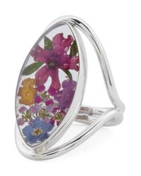 Tj Maxx - Metallic Made In Mexico Sterling Silver Dried Flower Open Work Ring - Lyst