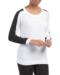Tj Maxx - White Colorblock Sweater - Lyst