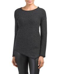 Tj Maxx   Black Cashmere Asymmetrical Hem Sweater   Lyst