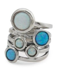 Tj Maxx - Metallic Made In Israel Sterling Silver Opal Multi Band Ring - Lyst