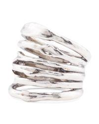 Tj Maxx - Metallic Made In Israel Sterling Silver Stripey Ring - Lyst