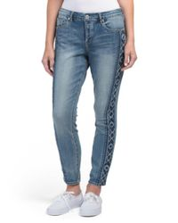 Tj Maxx - Blue Faith Ankle Embroidered Jeans - Lyst