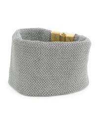 Tj Maxx - Metallic Made In Bali Sterling Silver And Mesh Wide Bracelet - Lyst