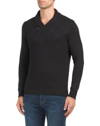 Tj Maxx - Black Soft Touch Shawl Collar Sweater for Men - Lyst