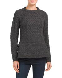Tj Maxx - Gray Made In Ireland Merino Wool Sweater - Lyst