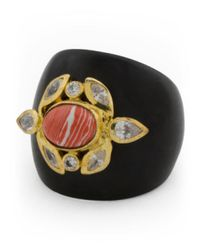 Tj Maxx - Multicolor Handcrafted In India Gypsy Heart Natural Wood And Coral Ring - Lyst