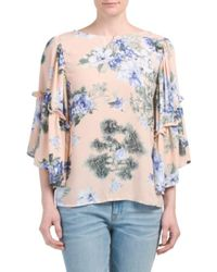 Tj Maxx - Multicolor Made In Usa Floral Wide Sleeve Top - Lyst