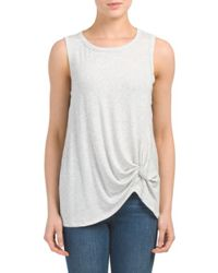 Tj Maxx - Gray Made In Usa Front Twist Top - Lyst