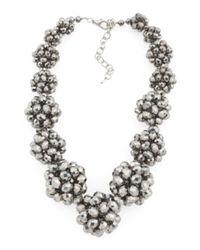 Tj Maxx - Metallic Handmade Crystal Ball Collar Necklace - Lyst