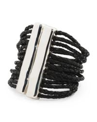 Tj Maxx - Metallic Made In Israel Sterling Silver Double Stick Cord Bracelet - Lyst