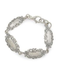 Tj Maxx - Metallic Made In Israel Sterling Silver Lace Station Bracelet - Lyst