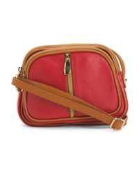 Tj Maxx - Red Made In Italy Leather Crossbody - Lyst