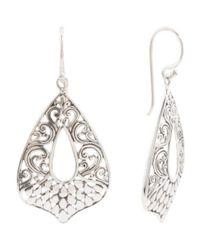 Tj Maxx - Metallic Made In Bali Sterling Silver Filigree Earrings - Lyst