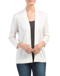 Tj Maxx - White Silk Cashmere Blend Open Cardigan - Lyst