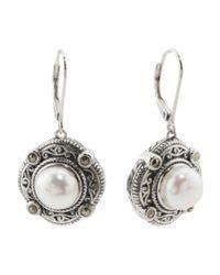 Tj Maxx - Metallic Sterling Silver Fresh Water Pearl Marcasite Earrings - Lyst