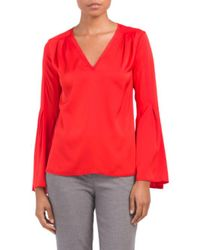 Tj Maxx - Red Made In Usa Olana Silk Biend Top - Lyst