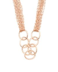 Tj Maxx | Metallic Made In Italy Bronze Oval Link Multi Strand Necklace | Lyst
