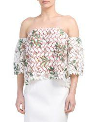 Tj Maxx - Multicolor Floral Lace Off The Shoulder Top - Lyst
