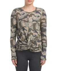 Tj Maxx - Multicolor Camo Long Sleeve Top - Lyst