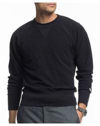 Todd Snyder - Inside Out Sweatshirt In Black for Men - Lyst