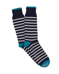 Corgi - Blue Breton Stripe Sock In Navy for Men - Lyst