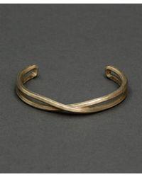 Maxx + Unicorn - Metallic Crossover Cuff In Brass for Men - Lyst