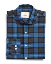 Todd Snyder | Rockaway Dress Shirt In Light Brown/blue Plaid for Men | Lyst