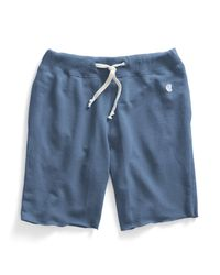 Todd Snyder - Blue Cut Off Gym Shorts In Ocean for Men - Lyst