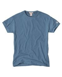 Todd Snyder - Blue Classic Crew T-shirt In Ocean for Men - Lyst