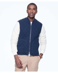 Todd Snyder | Blue Quilted Vest In Navy for Men | Lyst