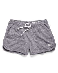 Todd Snyder | Gray Women's Athletic Short In Navy Heather | Lyst