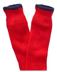 Corgi - Color Block Socks In Red for Men - Lyst