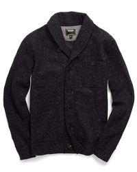 Todd Snyder - Shawl Knit Cardigan In Black for Men - Lyst