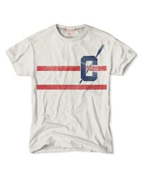 Todd Snyder | Gray Double Stripe T-Shirt In Vintage White for Men | Lyst