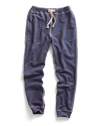 Todd Snyder - Warm Up Sweatpants In Mast Blue for Men - Lyst