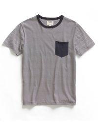 Todd Snyder - Blue Navy Narrow Stripe Pocket Crew T-shirt for Men - Lyst