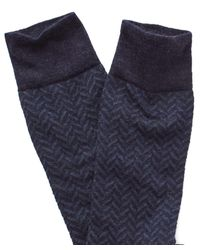 Corgi - Blue Herringbone Socks In Navy for Men - Lyst