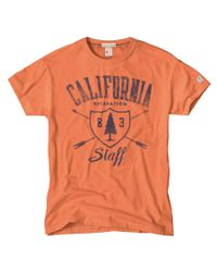 Todd Snyder - Orange California Staff T-shirt for Men - Lyst